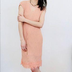 NWT Mango pleated dress